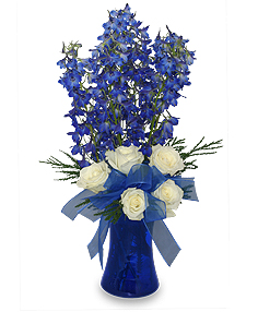 Blue Larkspur Flower Arrangement