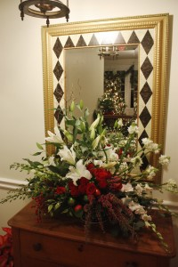 Matching Christmas Flower Arrangement