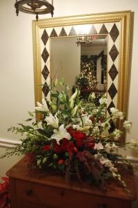 Matching Christmas Flower Arrangement