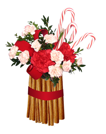 Cinnamon Flower Arrangement Not only will this arrangement spark Christmas
