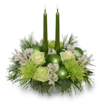 Green Holiday Centerpiece