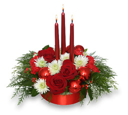 Red Holiday Centerpiece