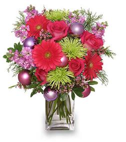 Fun Christmas Flower Arrangement