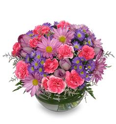 Amethyst Flowers - Purple and Pink Mix Flower Arrangement