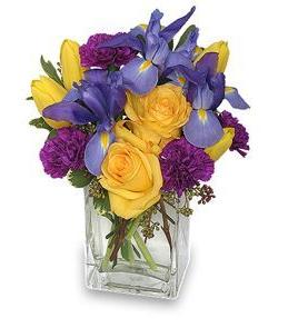 January Birthday Arrangement featuring Carnations