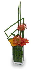 Modern Garnet Flower Arrangement