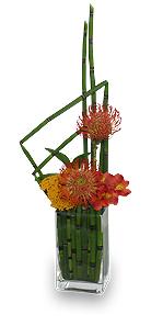 Modern Garnet Flower Arrangement