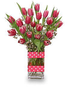 Pink Tulips For Long Distance Relationship Gift