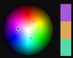 Purple Triad Color