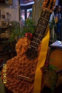 Guitar Themed Funeral Flowers