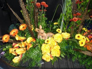 Deer In A Nature Lovers Funeral Tribute