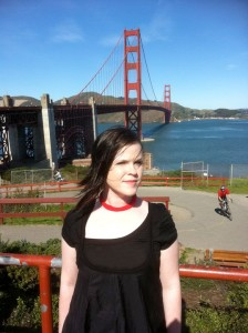 Mandy at the Golden Gate Bridge