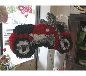 Motorcycle Funeral Flowers