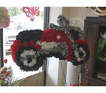 Motorcycle Funeral Flowers