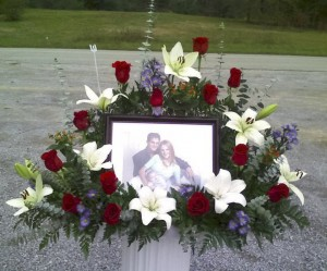 Photo Funeral Flowers Tribute