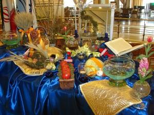 Hyacinths on a Haftsin Table