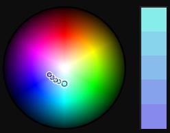 Aquamarine/Light Blue Color Palette