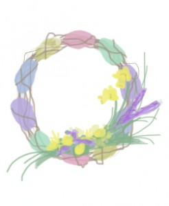 Easter Wreath Flower Ideas