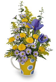 Coffee Mug Flower Arrangement