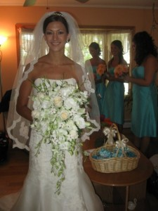 Royal White Bouquet Created by Tina of Perfect Rose Floral Design, East Islip NY