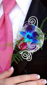 Trendy Prom Boutonniere