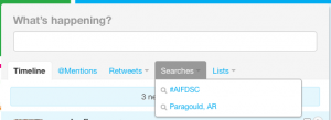Twitter Saved Search Example