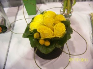 Yellow Flower - Rose Design