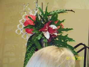 Recycled Floral Designs at Texas State Florist Convention