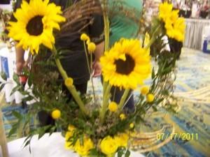 Yellow Flower Arrangement - Sunflower Wreath