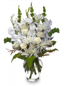 White Gladiolus for August Birthdays!