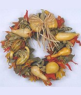 Wreath of Dried Preserved Materials