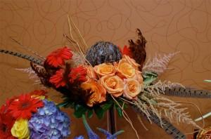 Feather Flower Arrangement