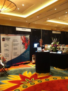 Mandy FSN at the Flower Shop Network Booth