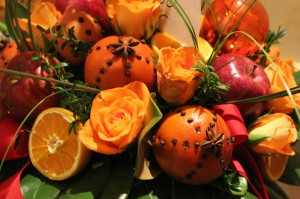 Oranges and Cloves used in Floral Design