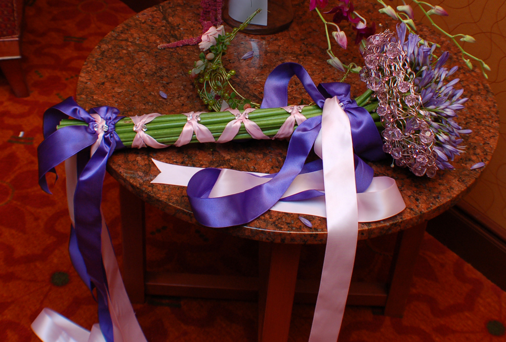 Purple Scepter Wedding Bouquet