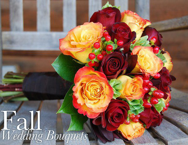 Autumn Wedding Bouquet Flowers - October Newsletter - Flower Shop ...