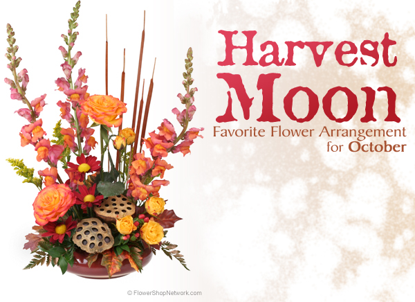 October Flower Arrangement - Harvest Moon