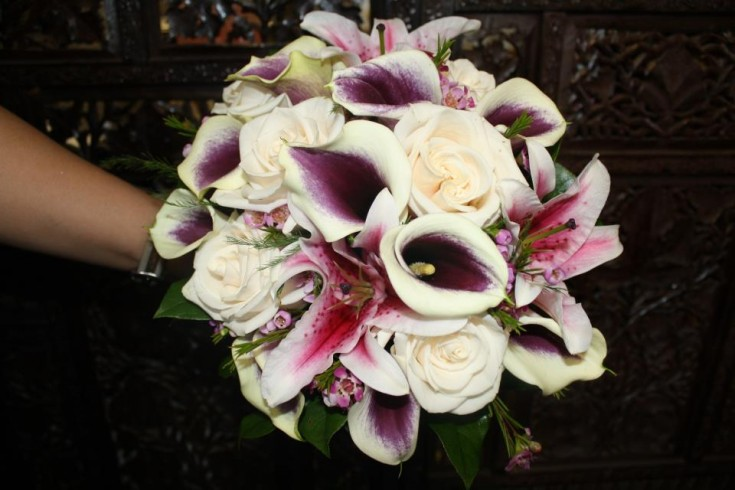 Purple and Pink Fall Bouquet