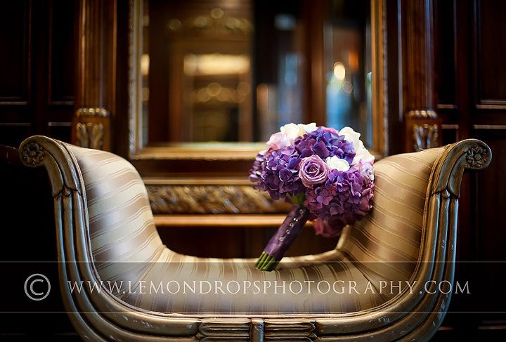Purple Wedding Bouquet For Fall