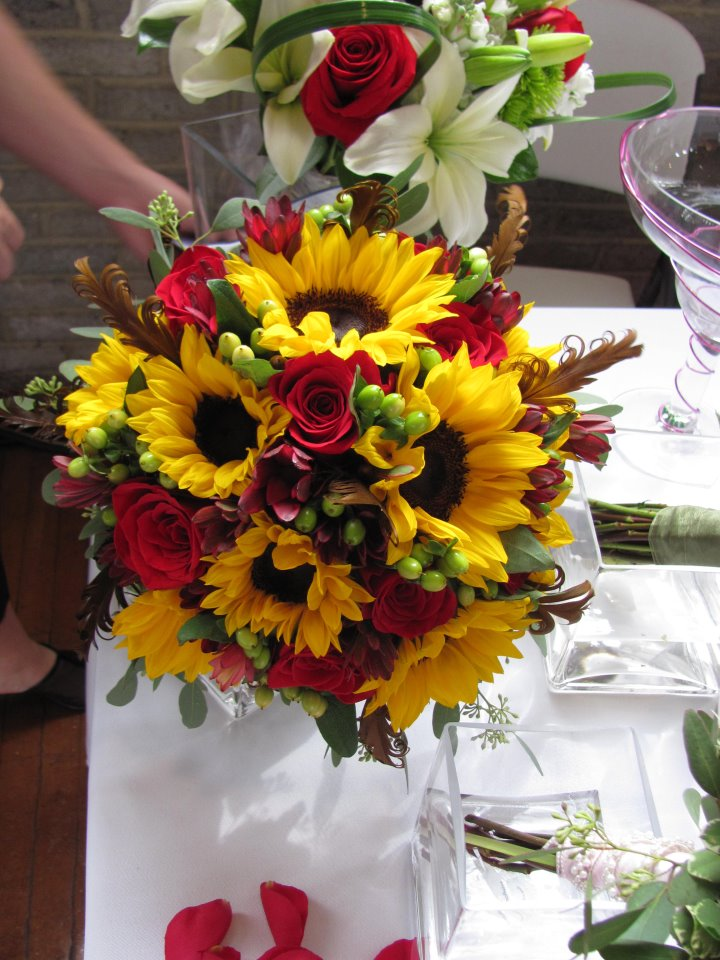 2011 wedding bouquet photos bridal bouquets bloomin blog sunflower wedding bouquet junglespirit Image collections
