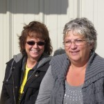 Cassondra from Order Transfer and Leslie from sales enjoying the sunshine today!