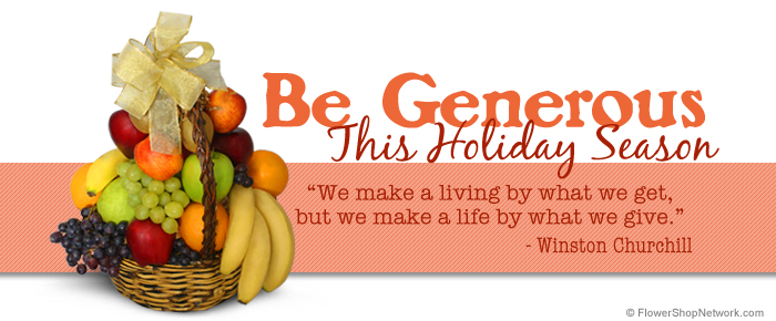 Be Generous This Holiday Season