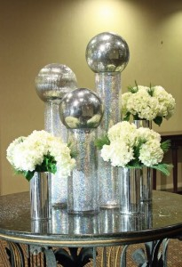 Silver Ball Christmas Flowers