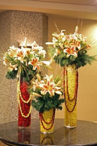 Cranberries & Popcorn With Lilies
