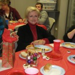 Loranne, our owner enjoying her Christmas dinner!