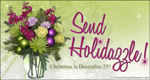 Send Holidazzle with flowers from your local florist