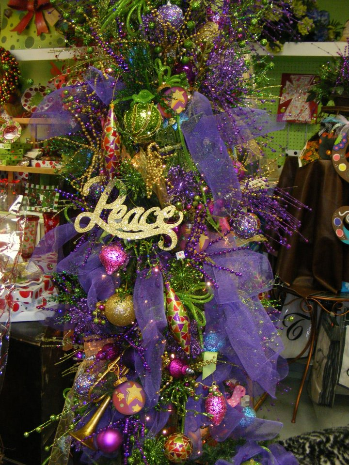 Purple & Green Christmas Tree
