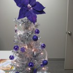 The adorable silver and purple tree in the office of our blogging staff!