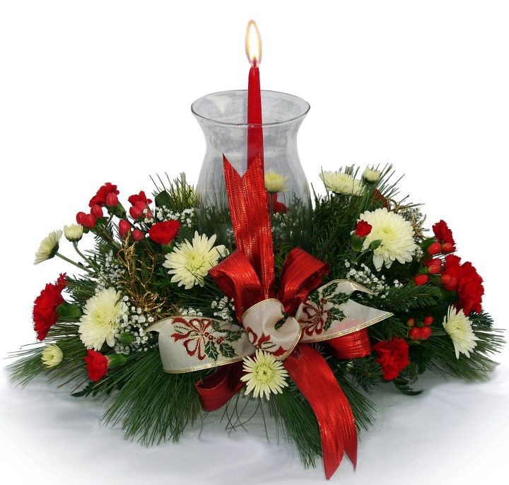 Creative flower shops and their latest christmas floral Small christmas centerpieces