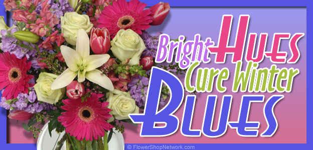 Beat The Winter Blues With Colorful Flowers!
